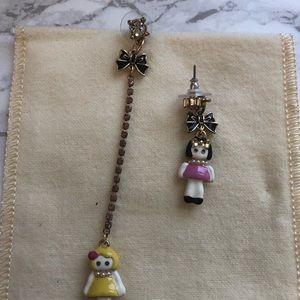 Vintage Betsy Johnson Doll earrings